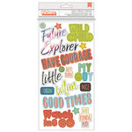 Pink Paislee - Wild Child Collection - Thickers - Chipboard - Phrase - Foil - Explorer