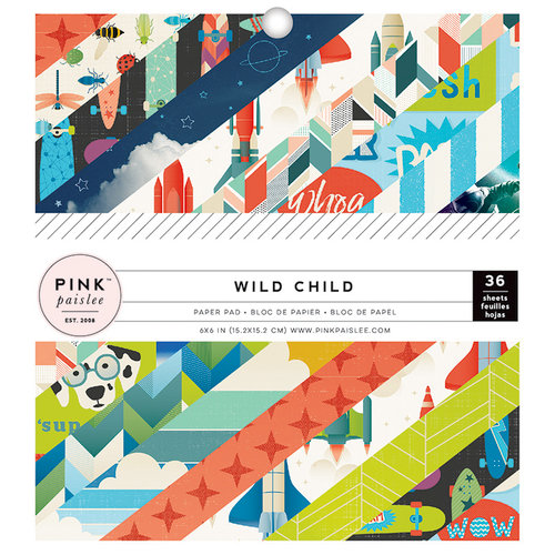 Pink Paislee - Wild Child Collection - 6 x 6 Paper Pad - Boy