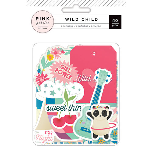 Pink Paislee - Wild Child Collection - Ephemera with Foil Accents - Girl