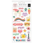 Pink Paislee - Wild Child Collection - Puffy Stickers - Girl