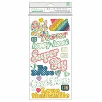 Pink Paislee - Wild Child Collection - Thickers - Chipboard - Phrase - Foil - Girl Power