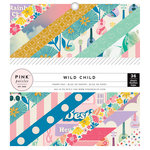Pink Paislee - Wild Child Collection - 6 x 6 Paper Pad - Girl