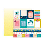 Pink Paislee - Pick Me Up Collection - 12 x 12 Double Sided Paper - Paper 1