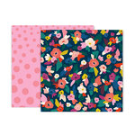 Pink Paislee - Pick Me Up Collection - 12 x 12 Double Sided Paper - Paper 2