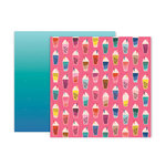 Pink Paislee - Pick Me Up Collection - 12 x 12 Double Sided Paper - Paper 4