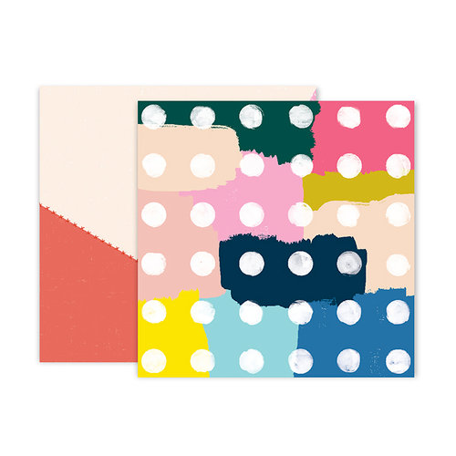 Pink Paislee - Pick Me Up Collection - 12 x 12 Double Sided Paper - Paper 5