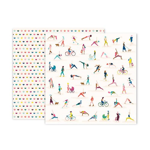 Pink Paislee - Pick Me Up Collection - 12 x 12 Double Sided Paper - Paper 9