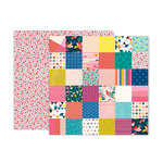 Pink Paislee - Pick Me Up Collection - 12 x 12 Double Sided Paper - Paper 10