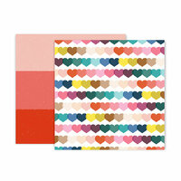 Pink Paislee - Pick Me Up Collection - 12 x 12 Double Sided Paper - Paper 11