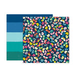 Pink Paislee - Pick Me Up Collection - 12 x 12 Double Sided Paper - Paper 14