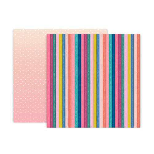 Pink Paislee - Pick Me Up Collection - 12 x 12 Double Sided Paper - Paper 16