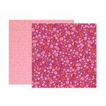 Pink Paislee - Pick Me Up Collection - 12 x 12 Double Sided Paper - Paper 17