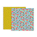 Pink Paislee - Pick Me Up Collection - 12 x 12 Double Sided Paper - Paper 18