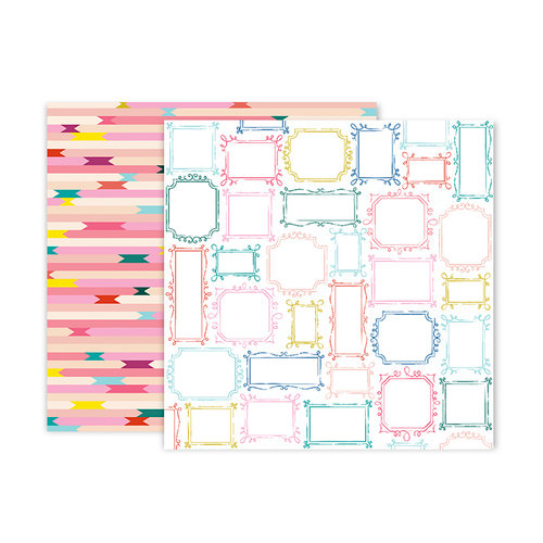 Pink Paislee - Pick Me Up Collection - 12 x 12 Double Sided Paper - Paper 19