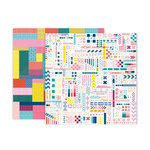 Pink Paislee - Pick Me Up Collection - 12 x 12 Double Sided Paper - Paper 21