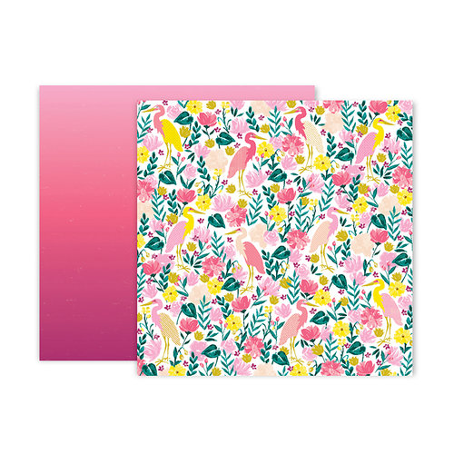 Pink Paislee - Pick Me Up Collection - 12 x 12 Double Sided Paper - Paper 23
