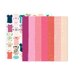 Pink Paislee - Pick Me Up Collection - 12 x 12 Double Sided Paper - Paper 24