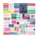 Pink Paislee - Pick Me Up Collection - 12 x 12 Vellum Paper with Foil Accents