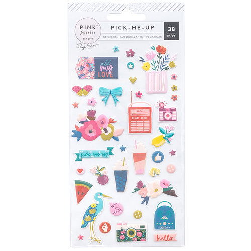 Pink Paislee - Pick Me Up Collection - Puffy Stickers