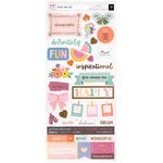 Pink Paislee - Pick Me Up Collection - Cardstock Stickers with Foil Accents