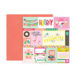 Pink Paislee - Confetti Wishes Collection - 12 x 12 Double Sided Paper - Paper 1