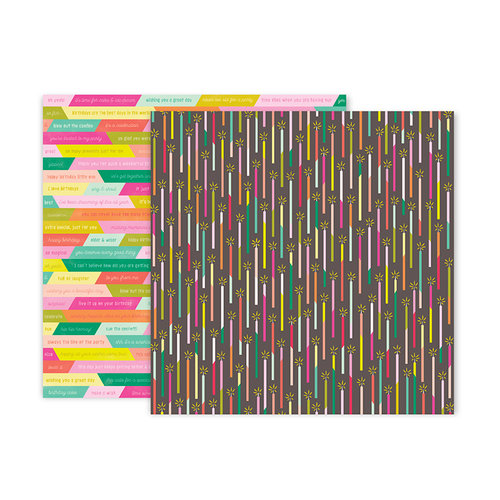 Pink Paislee - Confetti Wishes Collection - 12 x 12 Double Sided Paper - Paper 2