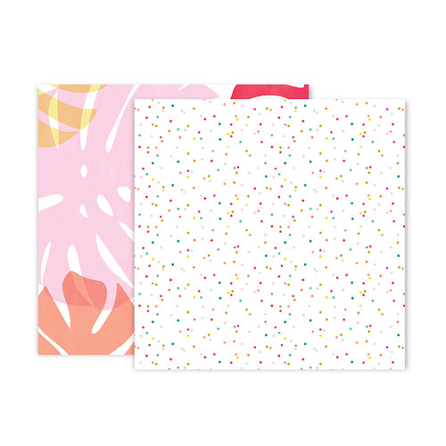 Pink Paislee - Confetti Wishes Collection - 12 x 12 Double Sided Paper - Paper 3