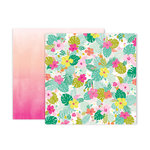 Pink Paislee - Confetti Wishes Collection - 12 x 12 Double Sided Paper - Paper 5