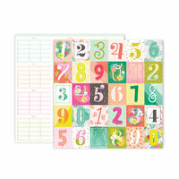 Pink Paislee - Confetti Wishes Collection - 12 x 12 Double Sided Paper - Paper 10