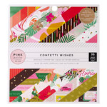 Pink Paislee - Confetti Wishes Collection - 6 x 6 Paper Pad with Foil Accents