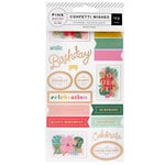 Pink Paislee - Confetti Wishes Collection - Sticker Book with Foil Accents