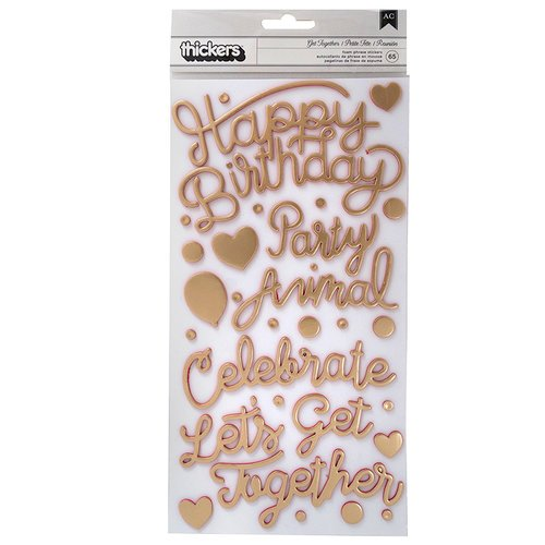 Pink Paislee - Confetti Wishes Collection - Thickers - Phrase