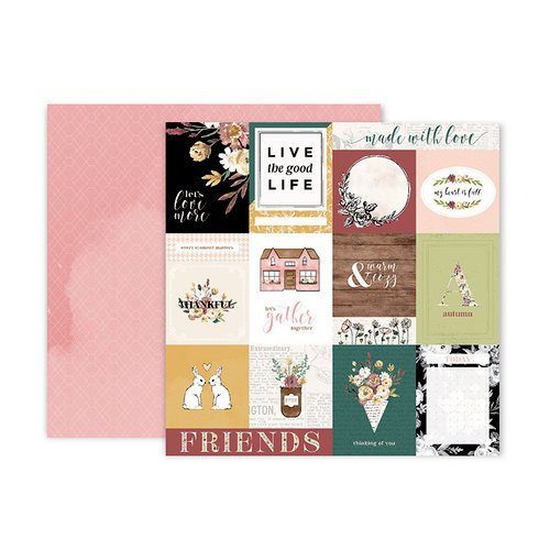Pink Paislee - Auburn Lane Collection - 12 x 12 Double Sided Paper - Paper 01