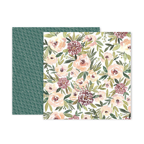 Pink Paislee - Auburn Lane Collection - 12 x 12 Double Sided Paper - Paper 03