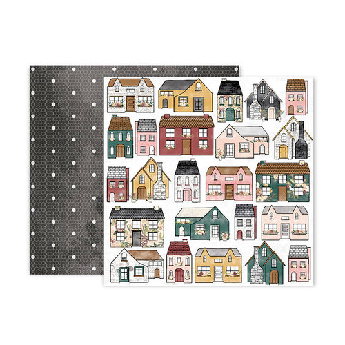 Pink Paislee - Auburn Lane Collection - 12 x 12 Double Sided Paper - Paper 05