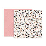 Pink Paislee - Auburn Lane Collection - 12 x 12 Double Sided Paper - Paper 07