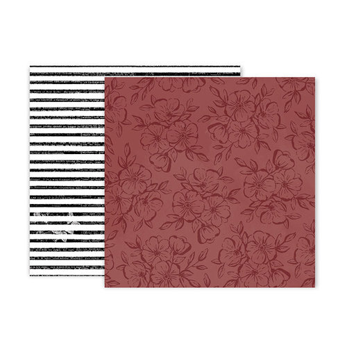 Pink Paislee - Auburn Lane Collection - 12 x 12 Double Sided Paper - Paper 08
