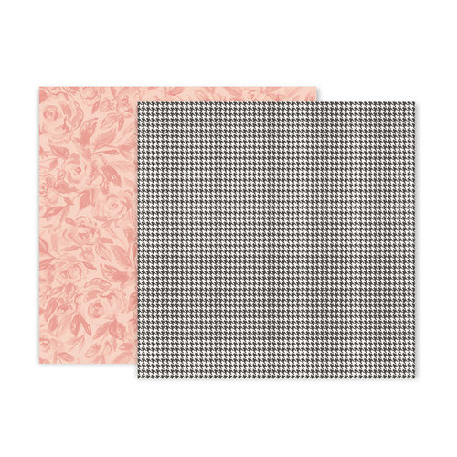 Pink Paislee - Auburn Lane Collection - 12 x 12 Double Sided Paper - Paper 09