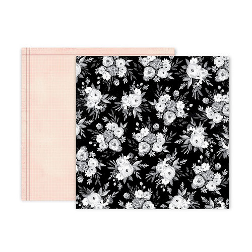 Pink Paislee - Auburn Lane Collection - 12 x 12 Double Sided Paper - Paper 12