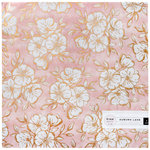 Pink Paislee - Auburn Lane Collection - 12 x 12 Vellum Paper with Foil Accents