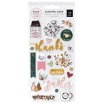 Pink Paislee - Auburn Lane Collection - Puffy Stickers