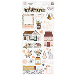 Pink Paislee - Auburn Lane Collection - Cardstock Stickers with Foil Accents
