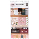 Pink Paislee - Auburn Lane Collection - Cardstock Stickers with Foil Accents - Labels