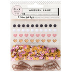 Pink Paislee - Auburn Lane Collection - Mixed Embellishments