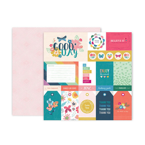 Pink Paislee - Whimsical Collection - 12 x 12 Double Sided Paper - Paper 1