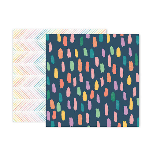 Pink Paislee - Whimsical Collection - 12 x 12 Double Sided Paper - Paper 2