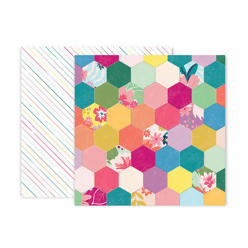 Pink Paislee - Whimsical Collection - 12 x 12 Double Sided Paper - Paper 5