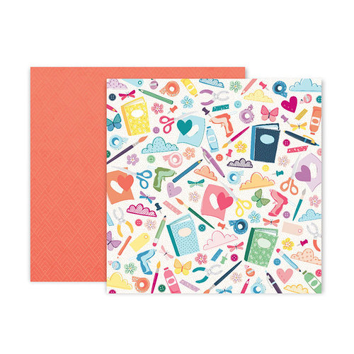 Pink Paislee - Whimsical Collection - 12 x 12 Double Sided Paper - Paper 6