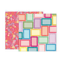 Pink Paislee - Whimsical Collection - 12 x 12 Double Sided Paper - Paper 7