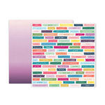 Pink Paislee - Whimsical Collection - 12 x 12 Double Sided Paper - Paper 8